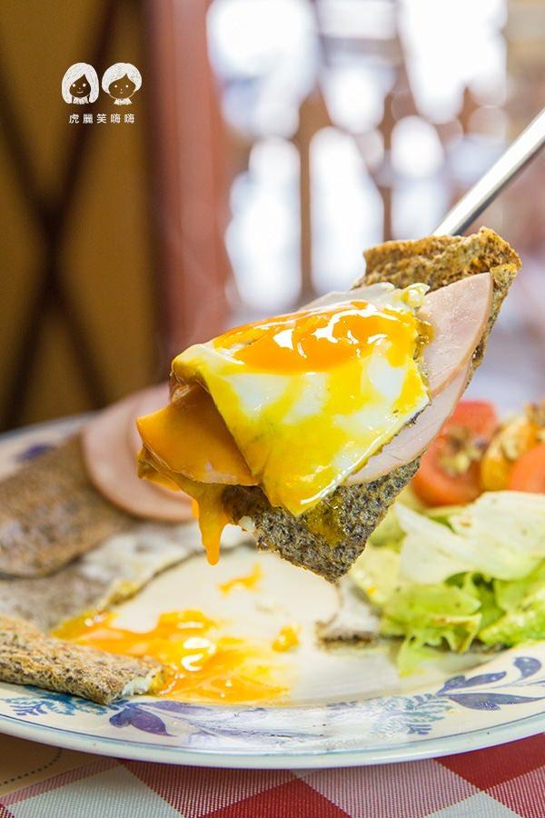 亞力的家法式薄餅小館 低脂里肌火腿天然乳酪有雞蛋 NTD209/小 NTD229/大
