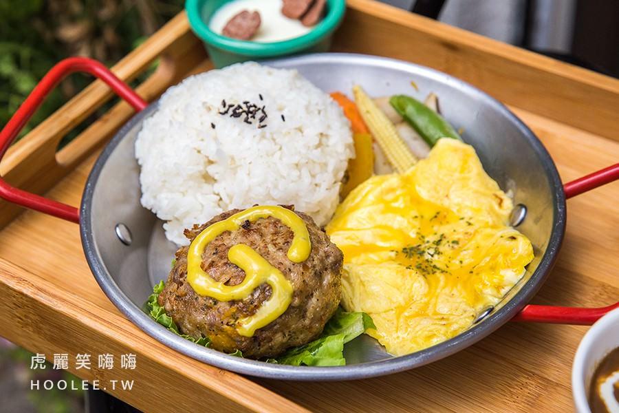 咕嘰咕嘰早午餐 鳳山早午餐推薦 香濃黑咖哩 美式手打漢堡排 145元