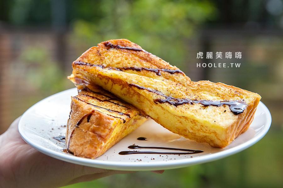 漫時光早午餐 鳳山早午餐推薦 日本蘋果卡士達吐司(大) 90元
