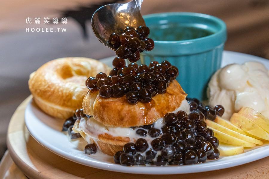 療癒甜甜圈 高雄甜點推薦 鳳山早午餐 珍珠聖代餐 139元 原味*2、香草冰淇淋、珍珠