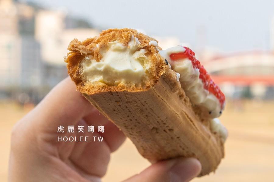 杰菕甜點 高雄甜點推薦 草莓咔滋泡芙 65元