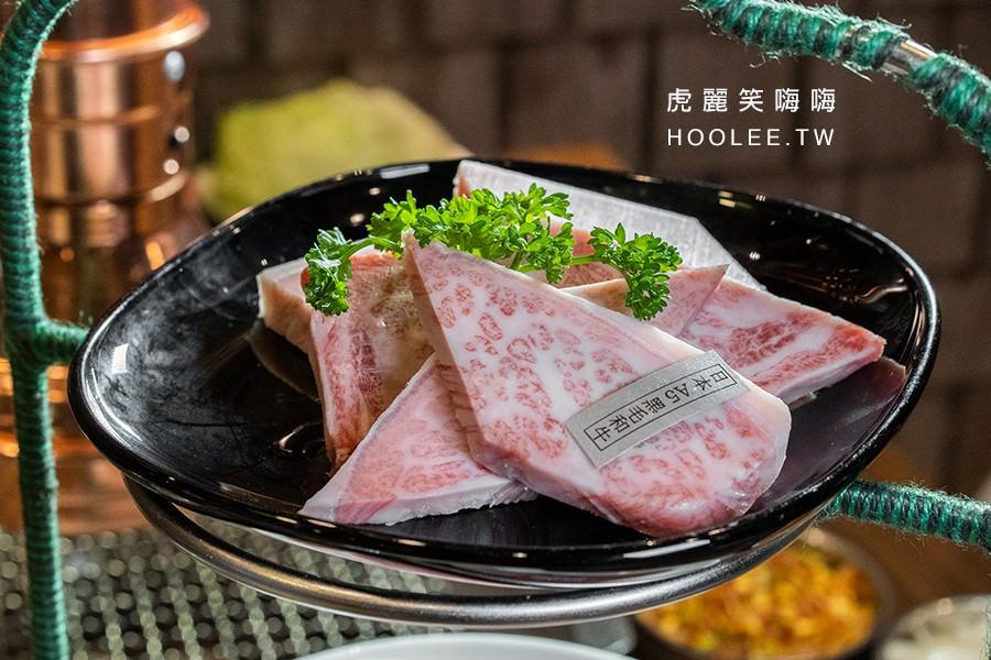 春花燒肉 高雄韓式燒肉 USA牛肉手切 雙人D餐 2,388元 日本A5黑毛和牛
