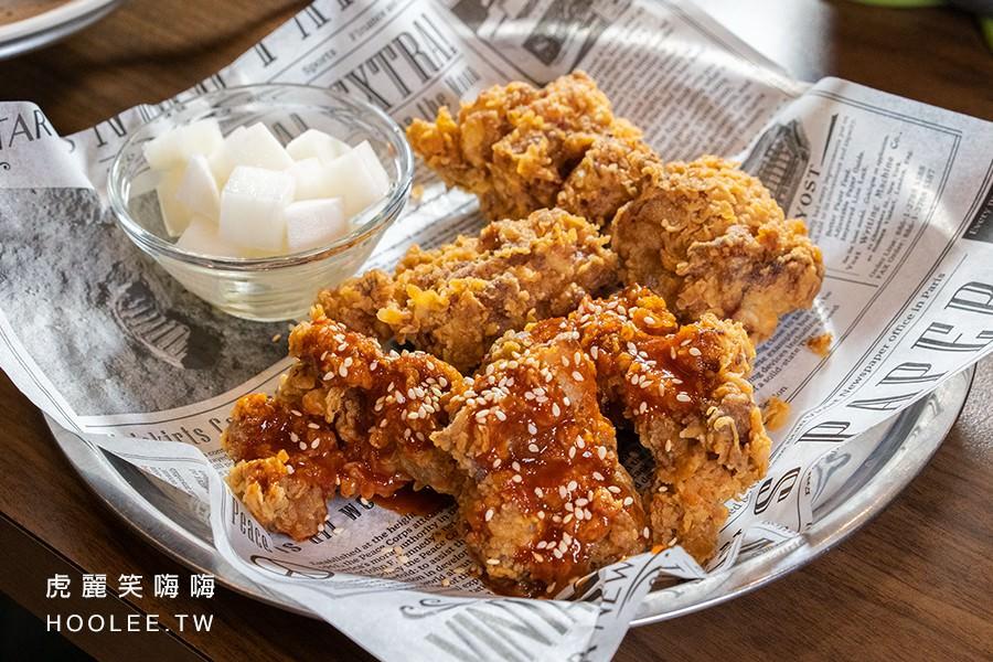 春花燒肉 高雄韓式燒肉 去骨半半雞(原/辣各半) 230元