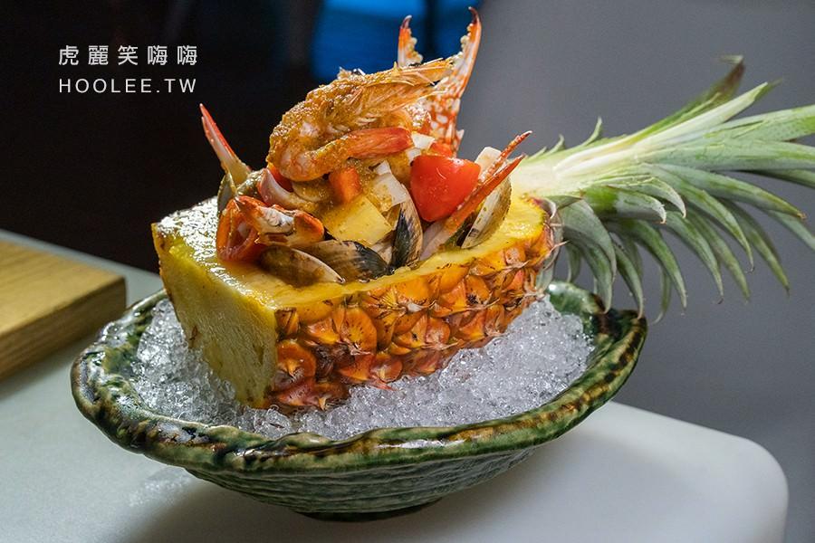 鳳梨涼拌海鮮盅 380元
