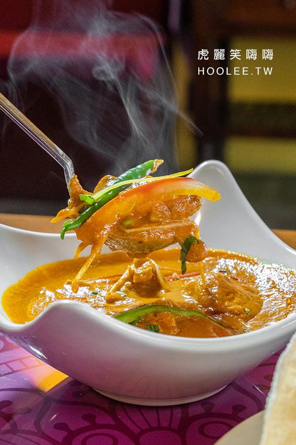瑪哈印度餐廳 高雄印度餐廳推薦 印度商業午餐 時段優惠價358元 黃醬印度羊肉咖哩