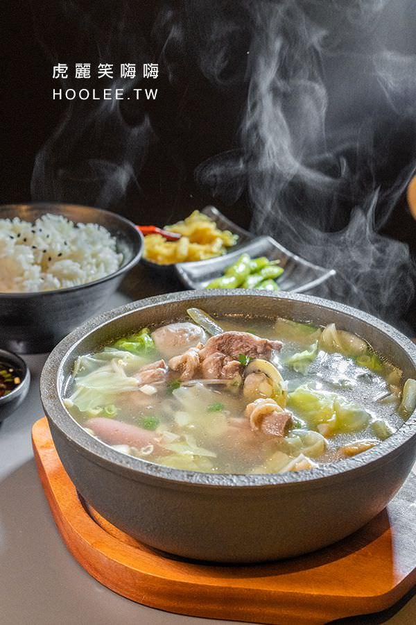 時懿黃燜雞米飯 高雄美食 左營新光三越 溫補雞湯煲系列 蒜頭蛤蜊雞湯煲 218元
