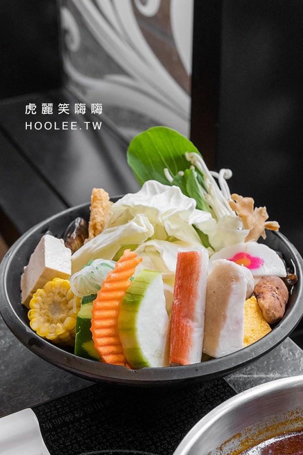 九勺涮涮鍋 高雄火鍋推薦 大漠天香鍋 霜降大肉盤 488元 綜合蔬菜盤