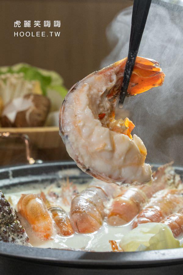 肉癮食鍋 高雄火鍋推薦 海陸痛風鍋 999元 龍蝦x1、天使紅蝦x2、草蝦x2、海蝦x4、花蝦x4