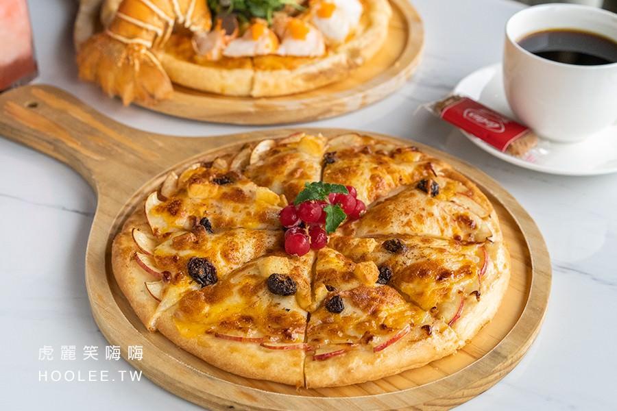 季洋莊園創意料理餐館 高雄咖啡廳推薦 盛夏香蘋披薩 260元
