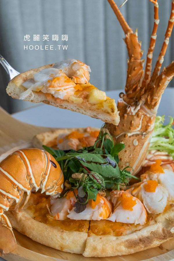 季洋莊園創意料理餐館 高雄咖啡廳推薦 奶油濃蝦披薩 480元