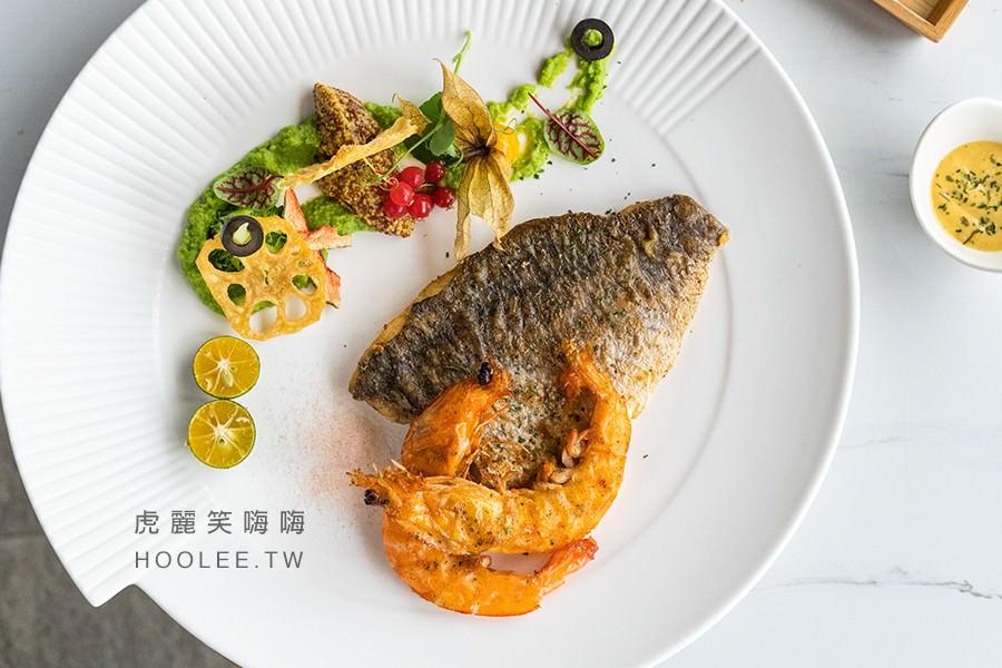 季洋莊園創意料理餐館 高雄咖啡廳推薦 鱸魚海蝦荷蘭爹 380元