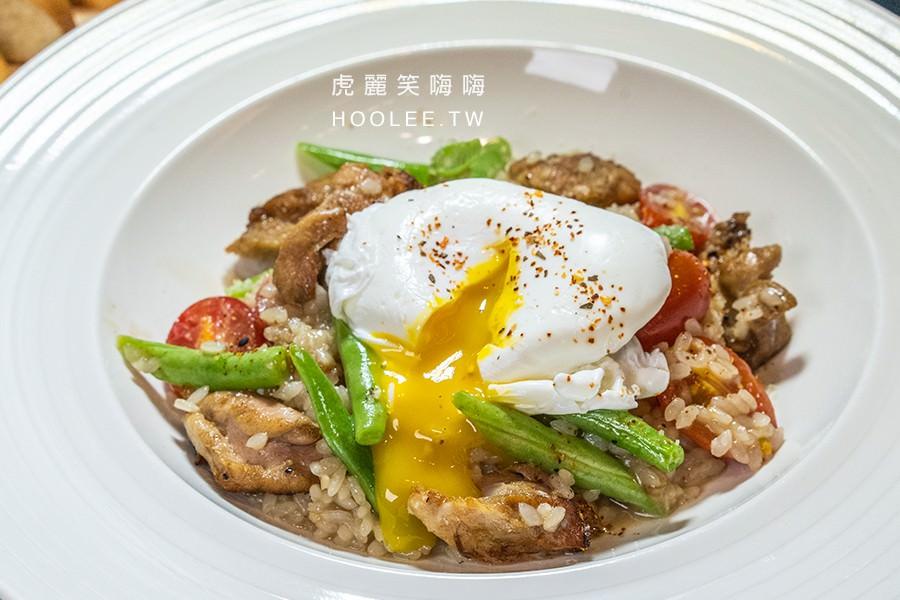 白色餐廳 Bianco Talee's 高雄燉飯推薦 富士山親子丼燉有機飯 350元