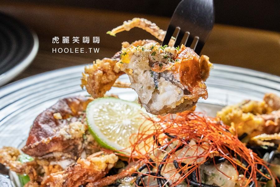 義食光 高雄地窖餐廳 酥炸軟殼蟹墨魚麵 300元