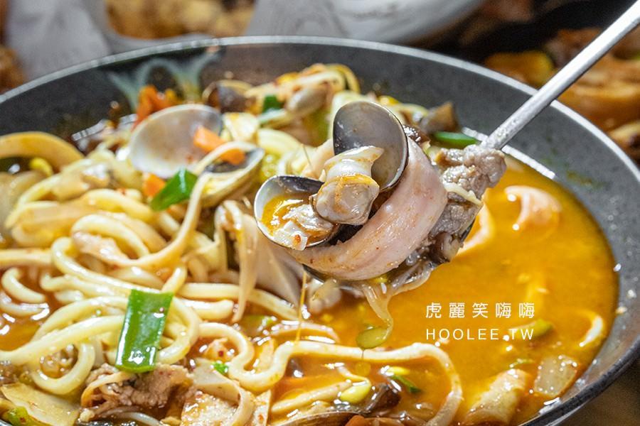 明朗米熱狗 巨蛋店 高雄 平價韓式料理 海鮮炒瑪麵 180元