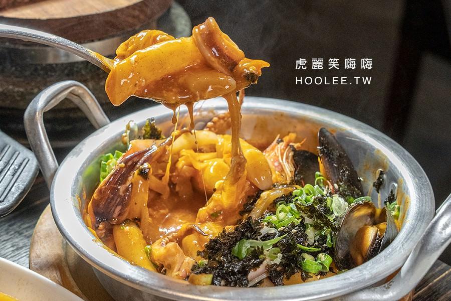 玉豆腐韓國家庭料理 高雄韓式料理推薦 2人安東燉雞套餐 820元 起司海鮮辣炒年糕