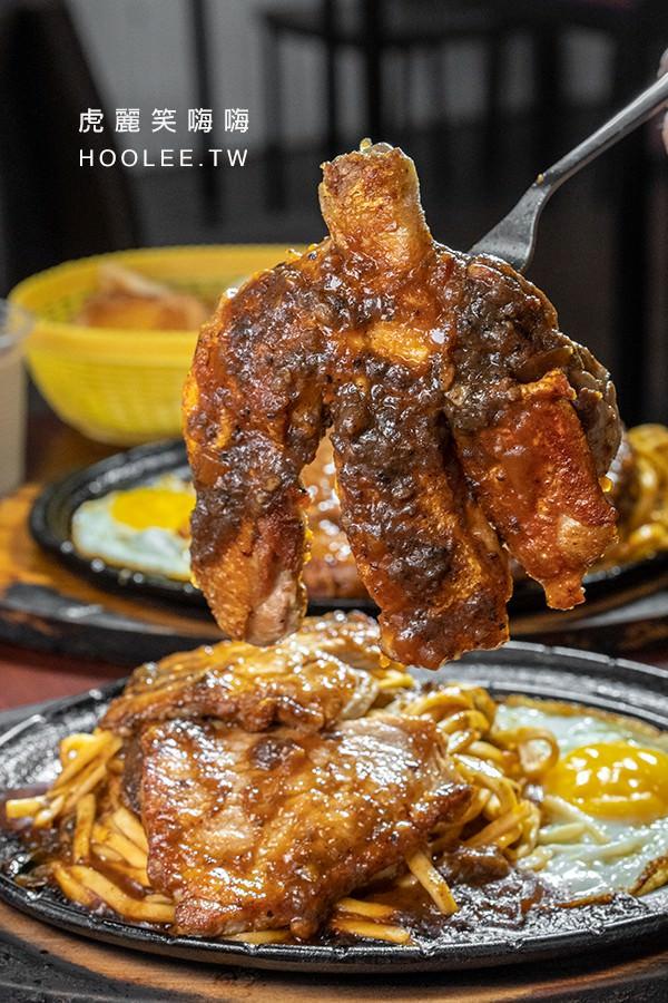 牛鼎鑫牛排 楠梓牛排館 鐵板燒推薦 雞腿排+豬排 250元 搭配綜合醬(蘑菇醬+黑胡椒醬)