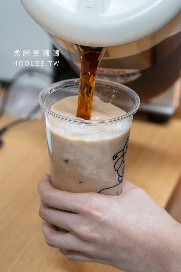 希望奶茶 高雄飲料 山水奶茶 L杯 55元 + 粉角 免費 半糖