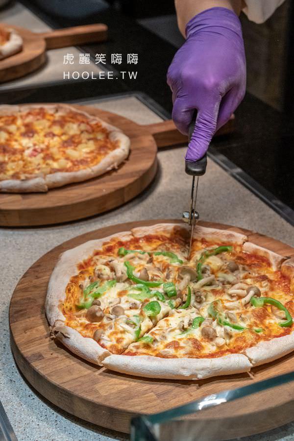 帕里巴黎自助餐 高雄吃到飽 聯上大飯店 瑪格麗特披薩、夏威夷披薩、焦糖巧克力比薩