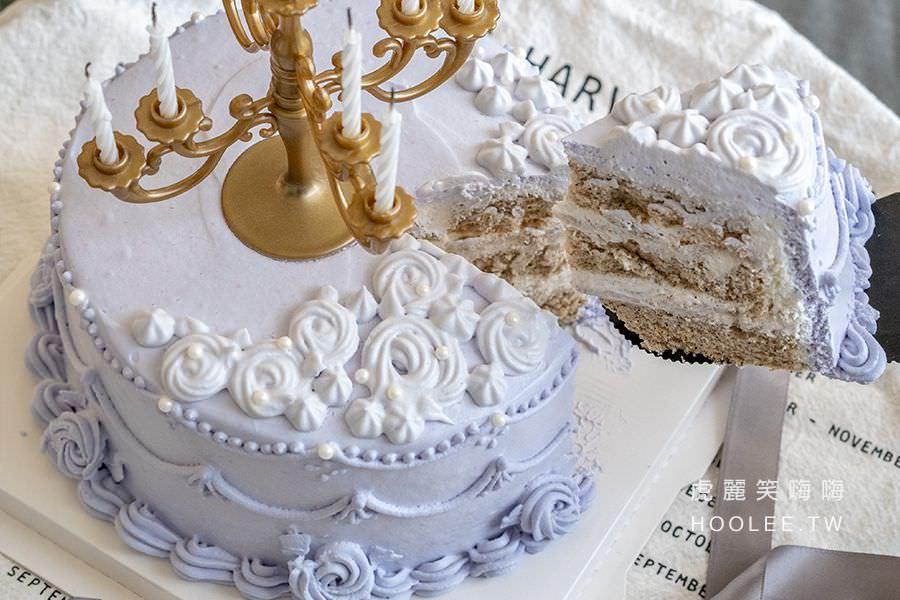 Loop圈圈 DIY烘焙 高雄生日蛋糕推薦 客製化蛋糕 復古蛋糕(紫色) ) 6吋1200元起