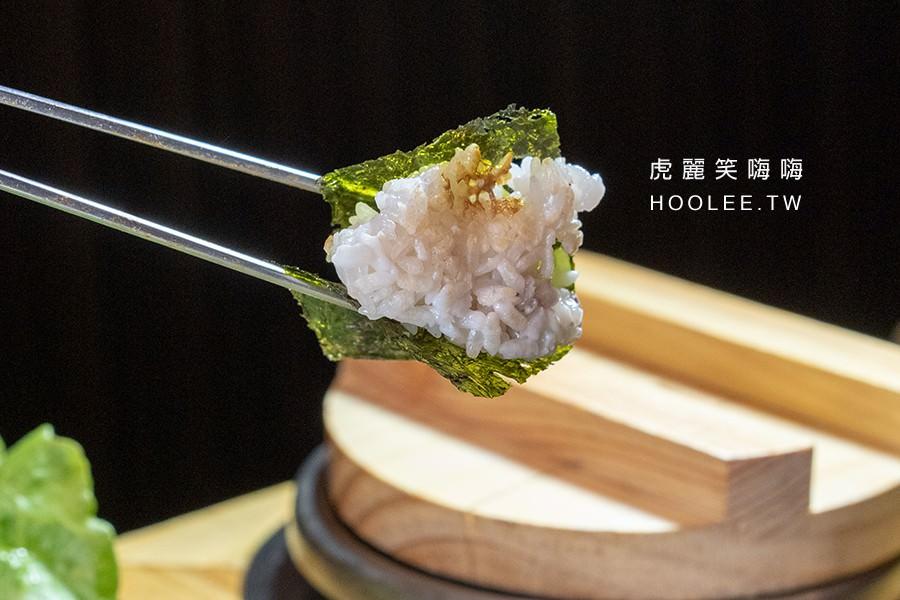 首爾豬 高雄韓式燒肉推薦 A Set(2人份) 799元 豬肉拼盤 海苔/石鍋耙飯