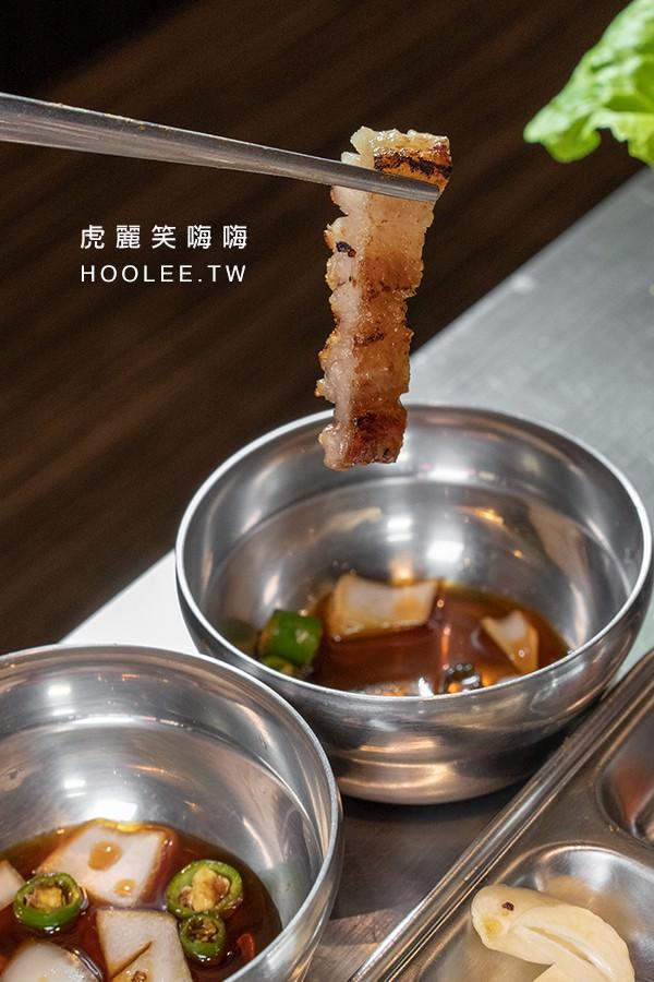 首爾豬 高雄韓式燒肉推薦 A Set(2人份) 799元 豬肉拼盤 豬五花肉