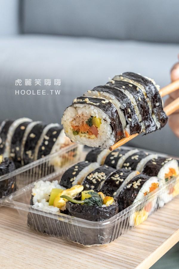 韓國歐巴飯捲 文藻後門 高雄韓式料理推薦 韓國小吃 鮪魚海苔飯捲 50元