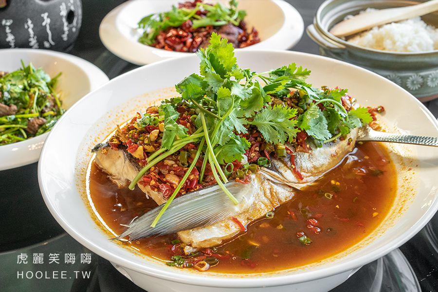 有你真好湘菜沙龍 高雄聚餐推薦 前鎮區 剁椒霸王魚頭 888元 大頭鰱魚頭、剁椒、麵條