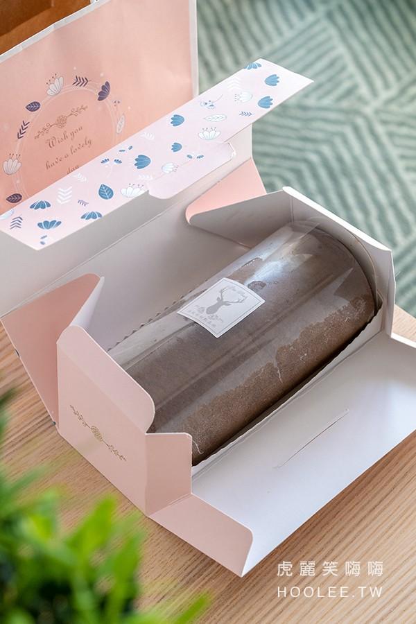 朵玫絲甜點森林 旗艦店 大豐店 高雄古早味蛋糕推薦 雙倍濃郁巧克力生乳捲 250元