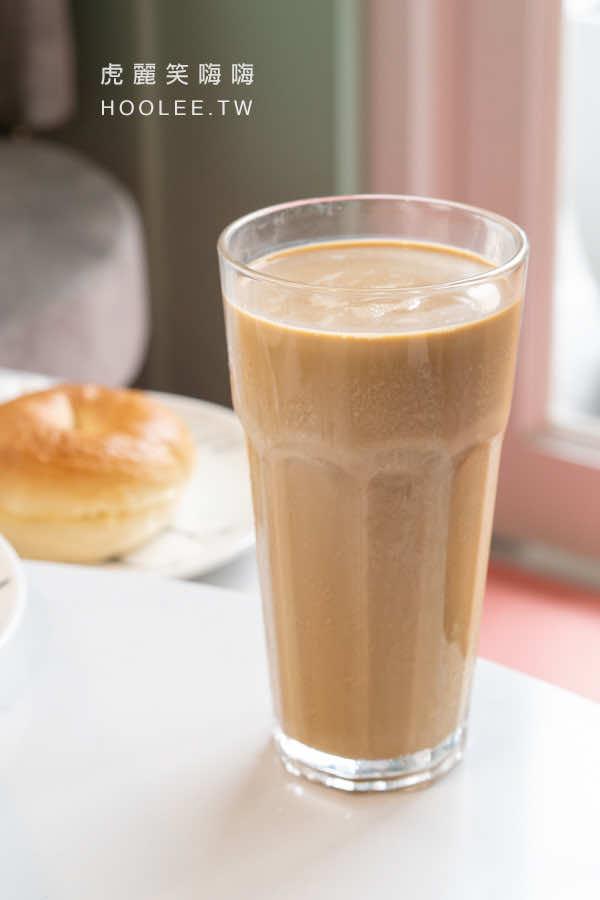 咕嘰咕嘰早午餐 瑞南店 高雄早午餐推薦 研磨拿鐵咖啡 65元