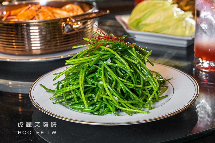 老新台菜 九如創始店 中式餐廳推薦 台菜 合菜 聚餐 鴨油爆炒時蔬
