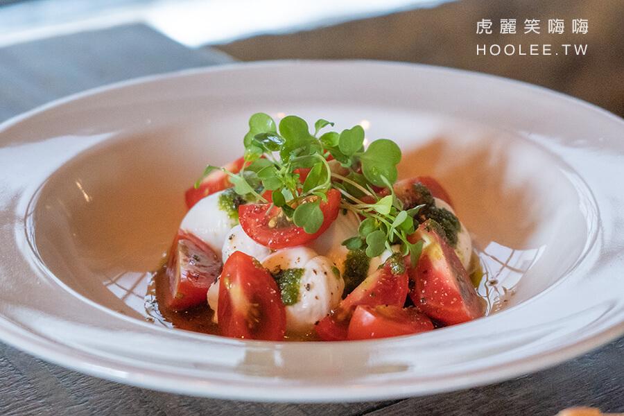 波波廚房 恆春美食推薦 義式料理 早午餐 莫扎雷拉番茄沙拉 260元