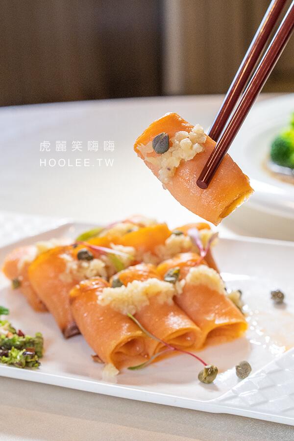 國賓大飯店 婚宴專案 文定和婚宴 川菜 拼盤 子薑鮭魚捲