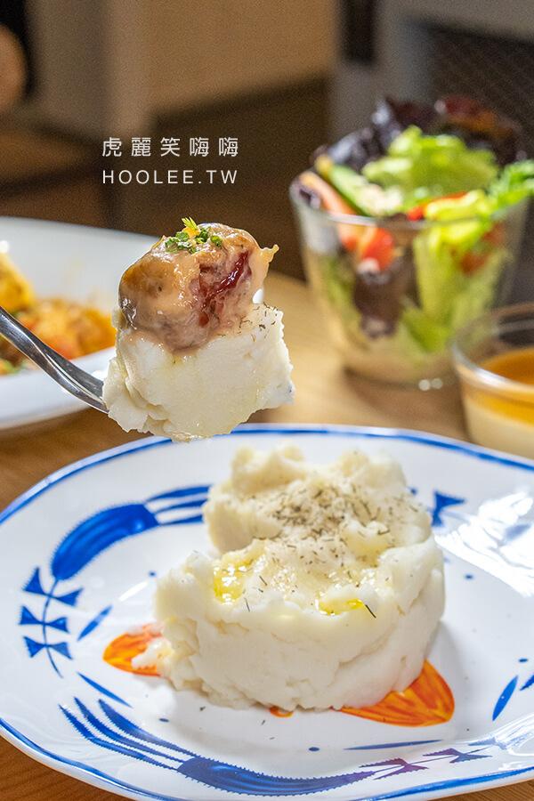 烏拉森林 東歐餐酒館 高雄異國料理 聚餐推薦 雙料理套餐 390元 北歐爐烤肉丸(豬肉) 東歐風格馬鈴薯泥