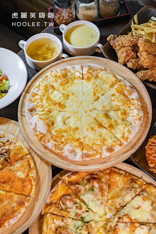 Double Cheese 打爆起司 手工窯烤pizza 高雄披薩吃到飽 莫札瑞拉加厚熔岩起司披薩