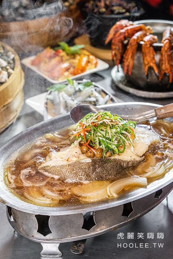 燒烤殿 高雄熱炒宵夜推薦 左營區 清蒸鱈魚 350元