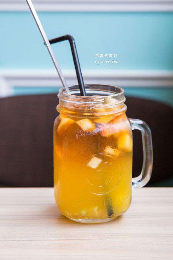 Chuju waffle 雛菊鬆餅 高雄早午餐 水果茶(冰)