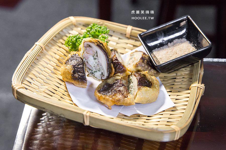 旭津壽司 高雄平價日本料理 炸香菇丸(3入) NT$120