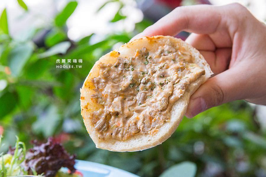 漫漫花時間 高雄早午餐推薦 燻腸培根佐手撕豬抹醬麵包 NT$280