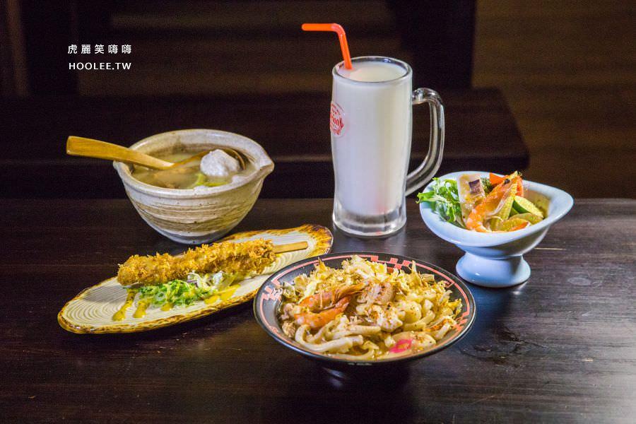 小料理食堂 高雄宵夜推薦 日式炒烏龍 沙拉 關東煮味增 日式炸魚串 NT$200