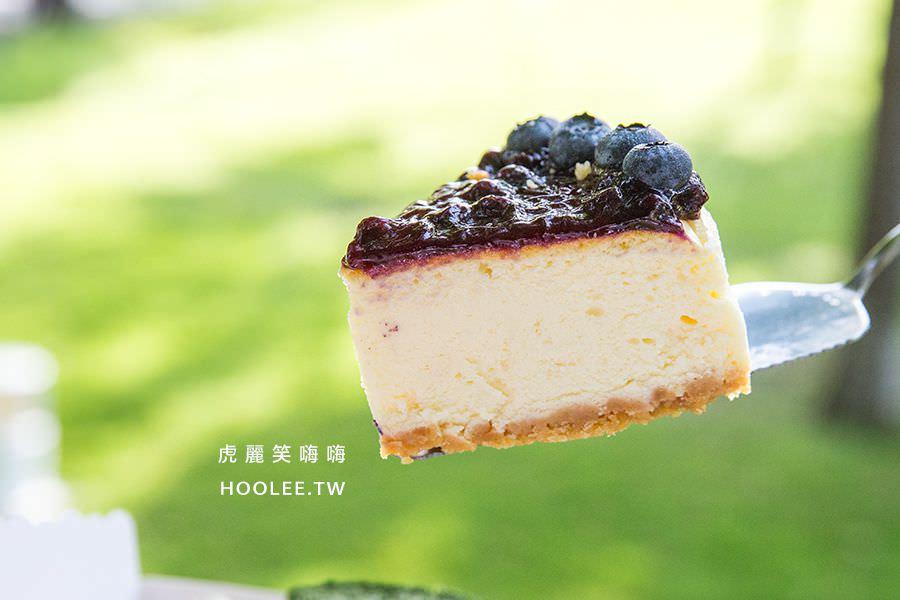紅鞋女孩 手作甜點 高雄甜點推薦 綜合口味 重乳酪切片 6吋 NT$450 藍莓 NT$70